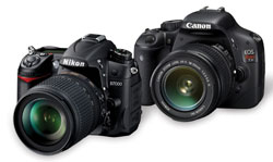 The Nikon D7000 or Canon EOS Rebel T2i