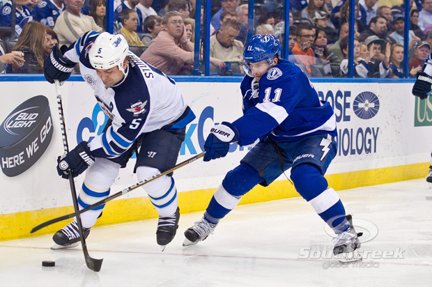 NHL 2012 - Jets Defeat Lightning 2-1in Overtime