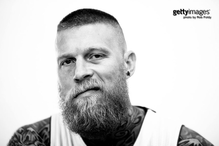 MIAMI, FL - SEPTEMBER 28: Chris Andersen #11 of the Miami Heat poses for a portrait during media day at AmericanAirlines Arena on September 28, 2015 in Miami, Florida. (Photo by Rob Foldy/Getty Images)