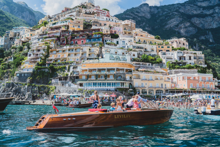People vacationing on holiday in Positano, Italy (Photo by Jeff Lombardo)
